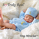 Tiny Miracles Lullaby Goodnight Posable Realistic Sleeping Baby Boy Doll With Blue Outfit