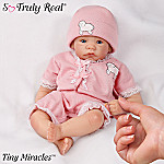 Tiny Miracles Mary Had A Little Lamb Miniature Musical Baby Girl Doll