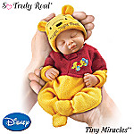 Tiny Miracles Winnie The Pooh Night, Night Pooh Realistic Sleeping Baby Doll With Sleeper