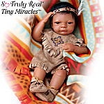 Baby Bright Cloud: Native American Style Vinyl Baby Doll