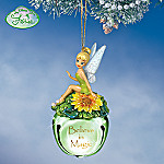 Collectible Disney Tinker Bell Believe In Magic Sleigh Bells Christmas Ornament