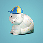 Snips & Snails Collectible Porcelain Piggy Bank