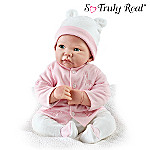 Playfully Real Children's Lifelike Poseable Play Doll: Toy Baby Girl Doll