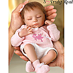 Tiny Miracles Ashley Collectible Lifelike Miniature Breathing Baby Doll: So Truly Real