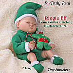 Tiny Miracles Ringle Elf Miniature Lifelike Baby Boy Doll In Elf Outfit