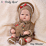 Tiny Miracles Ginger Ringle In The Holiday Babies: Realistic Lifelike Vinyl Baby Doll