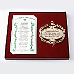 Merry Christmas From Heaven(R) 24K Gold Plated Ornament With Bookmark: Bereavement Gift