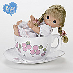 Precious Moments You're My Cup Of Tea Vinyl Doll