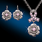 The Beauty Of Hope Inspirational Breast Cancer Necklace And Earring Set