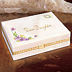 Dear Daughter Collectible Porcelain Music Box Gift for Daughter