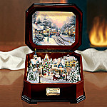Thomas Kinkade Holiday Memories Illuminated Music Box