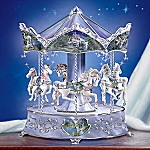 Enchanted Dancers Collectible Unicorn Carousel Music Box