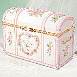 Darling Daughter Gift Porcelain Music Box Treasure Chest