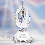 Our Lady Of Lourdes Religious Collectible Musical Egg