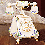 Cherished Daughter Collectible Porcelain Telephone Music Box