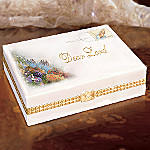Thomas Kinkade Serenity Prayer Religious Porcelain Music Box