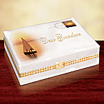 Dear Grandson Gift Porcelain Music Box