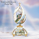Thomas Kinkade The Mountain Chapel Inspirational Musical Egg Collectible Religious Gift