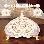 Hello Granddaughter Gift Porcelain Telephone Music Box
