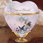 Lena Liu Precious Joy Butterfly Art Heart Shaped Music Box Gift For Daughter