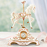 Timeless Treasure Horse Carousel Musical Clock