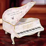 Lena Liu The Wind Beneath My Wings Piano Shaped Collectible Music Box