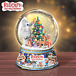 Collectible Rudolph The Red Nosed Reindeer Snowglobe: Magical Christmas Eve