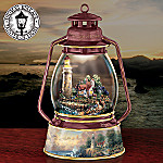 Thomas Kinkade Light Of Peace Collectible Lighthouse Music Box