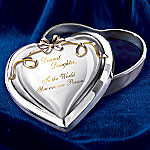 My Dearest Daughter Collectible Heart-shaped Jewelry Music Box Gift