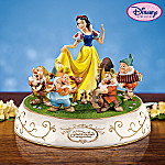 Collectible Disney Snow White And The Seven Dwarfs Animated Music Box
