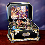 Red Dragon And Wizard Fantasy Art Collectible Music Box: Night Of The Dragon
