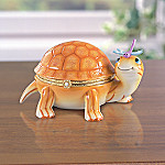 Tiny Tiger Limoges Style Collectible Turtle Music Box: Turtle Lover Gift