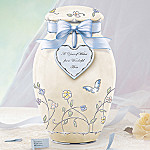 A Year of Wishes For A Wonderful Mom Porcelain Musical Ginger Jar: Gift For Mom