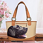 Black Lab Faithful Friend Tote Bag