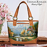 Collectible Thomas Kinkade Mountain Chapel Carryall Bag: Inspirational Gift