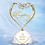 Treasured Daughter Porcelain Music Box: Daughter Gift