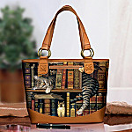 Frederick The Literate Cat Themed Tote Bag: Unique Cat Lover Gift