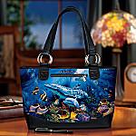 Christian Riese Lassen Ocean Paradise Tote Bag: Underwater & Dolphin Art Lover Gift