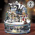 Thomas Kinkade A Holiday Gathering Heirloom Porcelain Music Box
