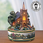 Thomas Kinkade Windermer Church Music Box