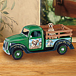Linda Picken Cruising Thru Life Wih My Lab Musical Truck - Chocolate Lab