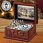 Thomas Kinkade St. Nicholas Circle Music Box