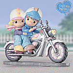 Precious Moments Two Hearts...Two Wheels Biker Figurine