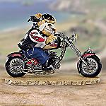 Bad To The Bone Biker Dog Figurine