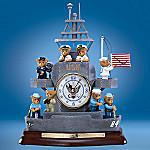 Faithful Fuzzies(TM) U.S. Navy Heroes On The High Seas Clock