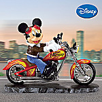 Disney's Mickey Mouse Collectible Motorcycle Figurine - Leader Of The Pack