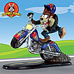 Looney Tunes Collectible Taz Figurine Biker Gift: Taz'n Up The Road