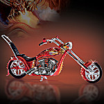 Red Dragon Rider Fantasy Motorcycle Figurine
