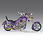 Serpent Of Steel Purple Dragon Collectible Motorcycle Figurine