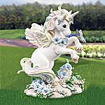 Butterflies & Rainbow Skies Magical Unicorn Garden Statue